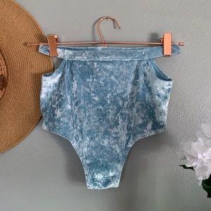 aerie Swim - NWOT Aerie Light Blue Velvet Bikini Bottoms